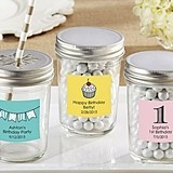 Kate Aspen Personalized Mason Jars with Birthday Designs (Set of 12)