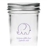 Kate Aspen Personalized Baby Elephant Design Mason Jars (Set of 12)