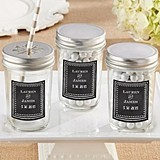 Kate Aspen Personalized Mason Jars with Chalkboard Motif (Set of 12)