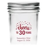 Kate Aspen Personalized Cheers Dots Design Mason Jars (Set of 12)