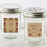 Kate Aspen Personalized Mason Jars w/ Fall Design Stickers (Set of 12)