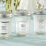 Kate Aspen Personalized Mason Jars with Gold Foil Stickers (Set of 12)