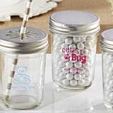 Kate Aspen Personalized Mason Jars w/ Baby Shower Designs (Set of 12)