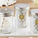 Personalized Mason Jars with Ocean-Themed Designs (Set of 12)