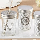 Kate Aspen Personalized Mason Jars with Boho Chic Designs (Set of 12)