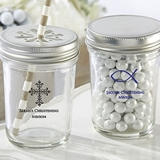 Personalized Mason Jars w/ Printed Religious Event Designs (Set of 12)