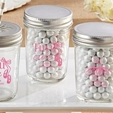"Personalized Mason Jars with ""Tutu Cute"" Designs (Set of 12)"