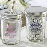 Kate Aspen Personalized Mason Jars with Wedding Designs (Set of 12)