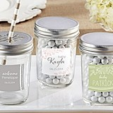 Personalized Mason Jars with Rustic Baby Shower Designs (Set of 12)