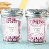 Personalized Mason Jars with 'So Sweet' Collection Designs (Set of 12)