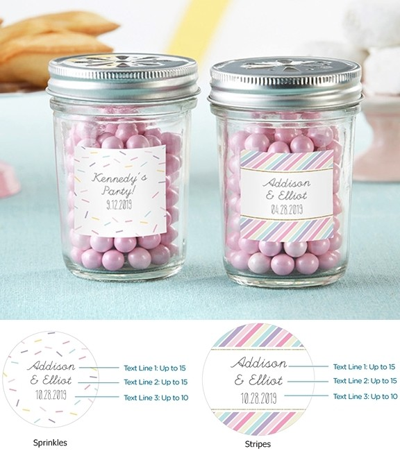 personalized mason jars with so sweet collection designs set of