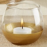 Kate Aspen Gold-Dipped Wine-Glass-Replica Votive Holders (Set of 4)