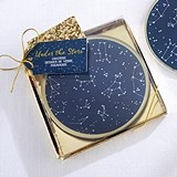 "Kate Aspen ""Under the Stars"" Glass Coasters (Set of 2)"
