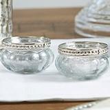 Kate Aspen Mercury Glass Tealight Holders with Silver Fleck (Set of 4)