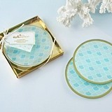Kate Aspen 'Seaside Escape' Mermaid-Inspired Glass Coasters (Set of 2)