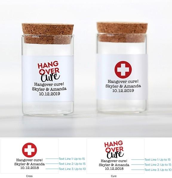 Kate Aspen Hangover Cure Personalizable Glass Tube Jars (Set of 12)