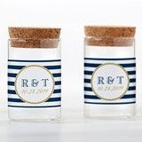 Kate Aspen Personalizable Glass Tube Jars - Nautical (Set of 12)
