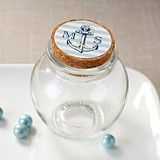 Kate Aspen Personalizable Glass Sphere Jars - Nautical (Set of 12)