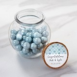 Kate Aspen Seaside Escape Personalizable Glass Sphere Jars (Set of 12)