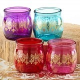 Kate Aspen Indian Jewel Henna Tea Light Holders (Assorted Set of 4)