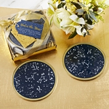 Kate Aspen 'Under the Stars' Glass Coasters with Holder (Set of 6)