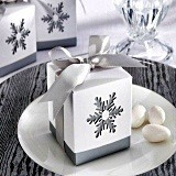 A Splash of Winter Laser-Cut Snowflake Favor Boxes (Set of 24)