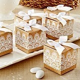 Kate Aspen Rustic and Lace Kraft Favor Boxes (Set of 24)