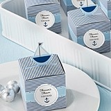 Personalized Pop-Up Sailboat Baby Shower Favor Boxes (Set of 24)