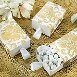 "Kate Aspen ""Treasures"" Gold Damask Favor Boxes (Set of 24)"