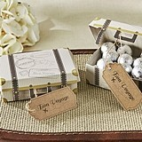 """Bon Voyage"" Vintage Suitcase Favor Boxes (Set of 24)"