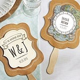 Personalized Travel & Adventure Designs Kraft-Paper Fans (Set of 12)