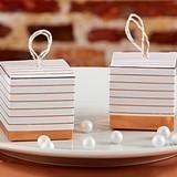 Kate Aspen Striped Copper Foil Favor Boxes (Set of 24)
