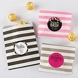 Personalizable Striped Favor Bags - Bachelorette (8 Colors)(Set of 25)
