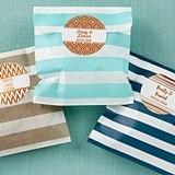 Personalizable Striped Favor Bags - Copper Foil Designs (Set of 25)
