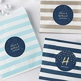 Under the Stars Designs Personalizable Striped Favor Bags (Set of 25)