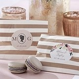 Personalizable Striped Favor Bags - English Garden Theme (Set of 25)