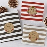 Kate Aspen Fall Designs Personalizable Striped Favor Bags (Set of 25)