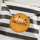 Personalizable Striped Favor Bags - Halloween Designs (Set of 25)