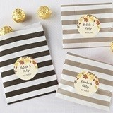 Fall Leaves Design Personalizable Striped Favor Bags (Set of 25)
