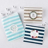 Personalizable Horizontal-Striped Favor Bags (8 Colors) (Set of 25)