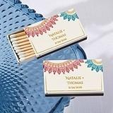 Kate Aspen Personalized Matchbooks - Indian Jewel Motif (Set of 50)