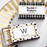 Kate Aspen Modern Classic Designs Personalized Matchbooks (Set of 50)
