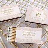 Kate Aspen Modern Romance Designs Personalized Matchbooks (Set of 50)