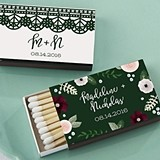 Kate Aspen Personalized Matchbooks - Romantic Garden (Set of 50)
