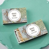 Kate Aspen Personalized Matchbooks - Travel Design (Set of 50)