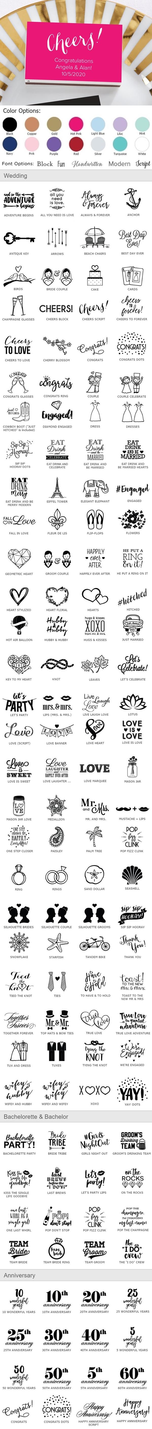 Kate Aspen Personalized White Matchboxes - Wedding Designs (Set of 50)