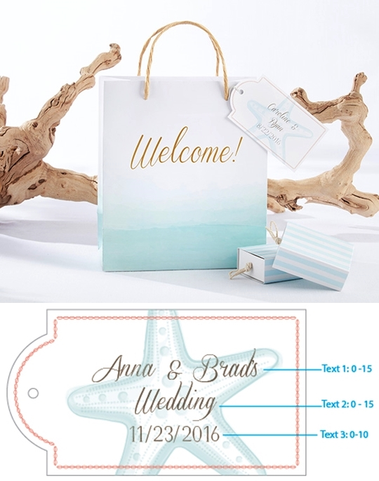 Kate Aspen Beach Tides Collection Welcome Bags (Set of 12)