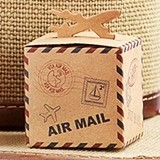 Let the Adventure Begin Pop-Up Airplane Kraft Favor Boxes (Set of 24)