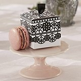 Kate Aspen Black Floral Lace Motif Favor Boxes (Set of 24)