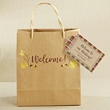 Kate Aspen Gold Foil Fall Welcome Bags (Set of 12)